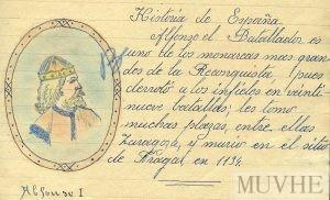 Figura 13.4. Lección de Historia. Cuaderno escolar de Encarnita Bernal (1942, p. 13). Fondo CEME.