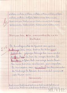 Figura 2.1. Cuaderno escolar pautado. Murcia, utilizado en 1982. Fondo CEME.