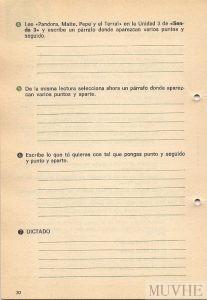 Figura 2.2. Editorial Santillana (1970), Área de Lenguaje. Fichas de Trabajo 3. Madrid: Santillana Editorial Santillana, p. 30. Fondo CEME.