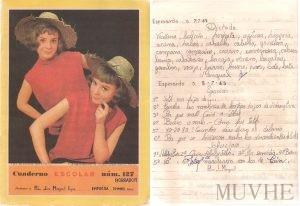 Figuras 2.3a, 2.3b. Cuaderno Escolar (Espinardo, Murcia). Editorial FHER. 1965. [Borrador y Limpio]. Fondo CEME.