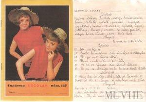 Figuras 2.4a y 2.4b. Cuaderno Escolar (Espinardo, Murcia). Editorial FHER. 1965. [Borrador y Limpio]. Fondo CEME.