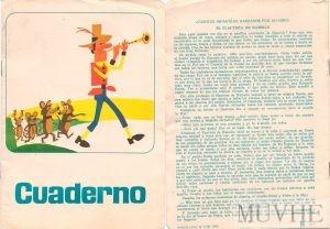 Figuras 2.6a y 2.6b. Cuaderno Escolar. Madrid 1966. Portada y contraportada. Fondo CEME.