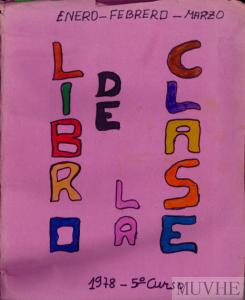 Figura 5.1. Portada del «Libro de la clase» (Balsicas, 1978).