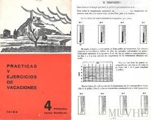Figura 7.2a y 7.2b. (1967), Prácticas y Ejercicios de Vacaciones. Barcelona: Teide, portada y p. 2.