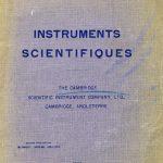 Cambridge Scientific Instrument Company, Ltd., The 1913.