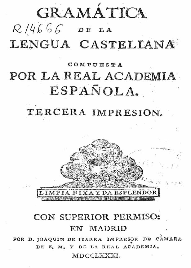 gramatica de la lengua castellana: